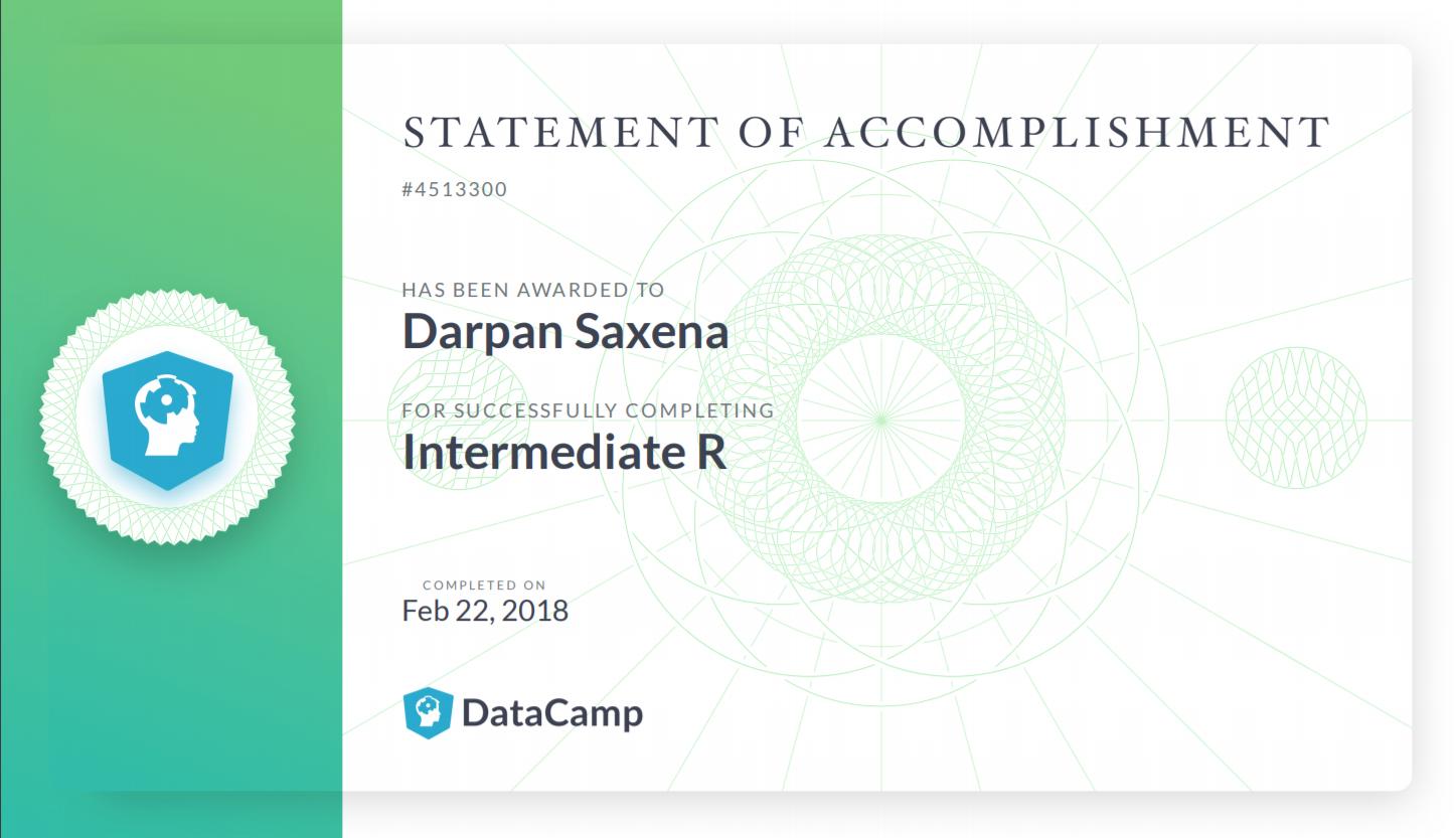 DataCamp Certificate