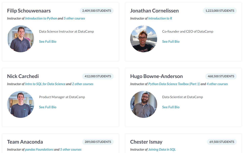 DataCamp Instructors