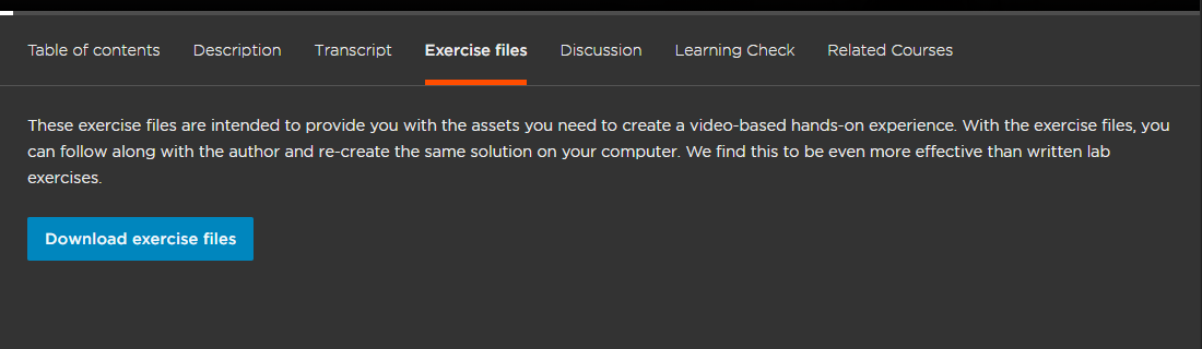 Pluralsight Review Exercise files