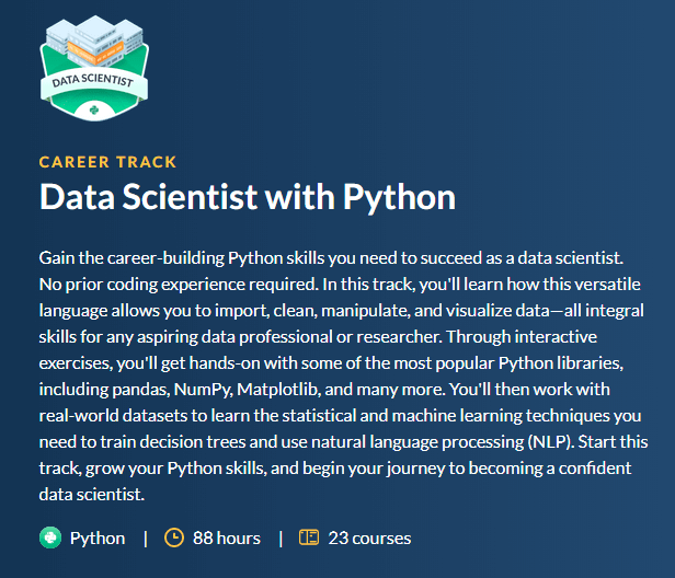 4- Data Scientist with Python Career Track