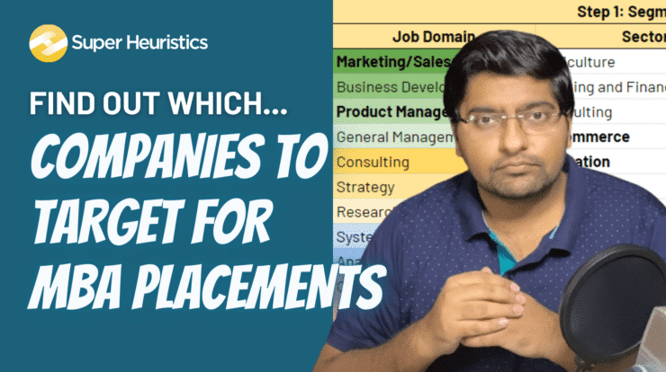 Find target companies for MBA placements